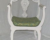 Painted Chair Shabby Distressed Vanity Chair