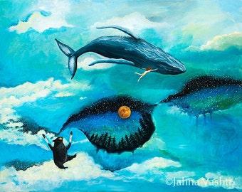 Print, That Summer in Alaska, Humpback Whale, Black Bear, Whale Dream, Flying Dream, Alaska