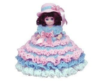 "PDF Crochet Bed Doll Pattern - 13"" Bed Doll Pattern Pamela (7147 PDF) Td creations"
