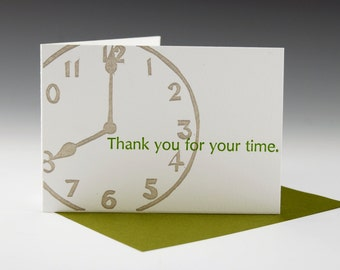 Thank you for the time (146)