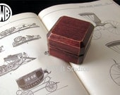 Antique Style Ring Box of Mahogany.  Free Shipping and Engraving. RB43