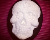 Sugar Skull Cameo Brooch 30x40mm