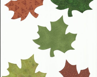 Fall Maple Leaves Fabric Iron On Appliques