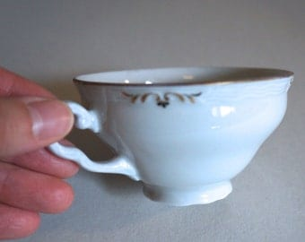 Vintage Epiag Czechoslovakia Teacup White and Gold - Floyd Jones Vintage