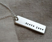 Personalized Double Sided Necklace - Customize - Hand Stamped