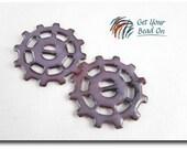 Purple Enameled Gears