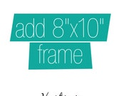ADD AN 8x10 FRAME to any 8x10 Print