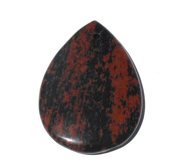 Red Obsidian Stone : Mm mahogany obsidian natural stone large puffed teardrop