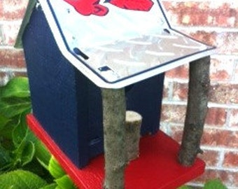 Cleveland Indians Rustic License Plate Birdhouse