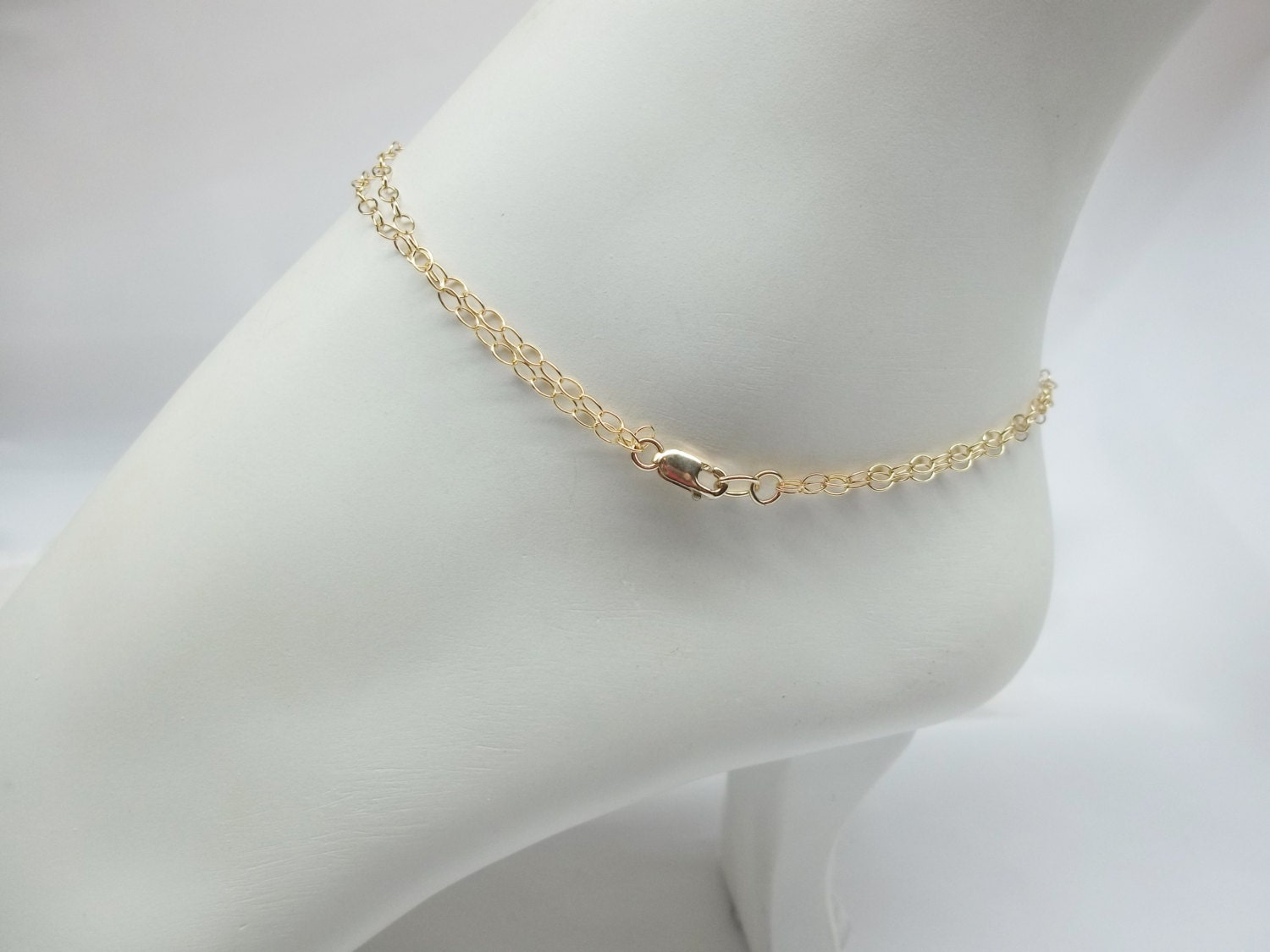 bracelet cross p double ankle chain il fullxfull free strand gold anklet filled