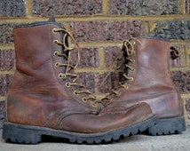 Vintage Work Boots Herman Setter Style Lace Up Hunting Work Boots, size 10 E