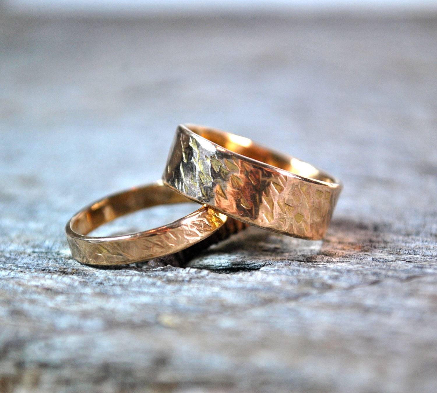 Unique Wedding Ring Sets His and Hers Rose Gold