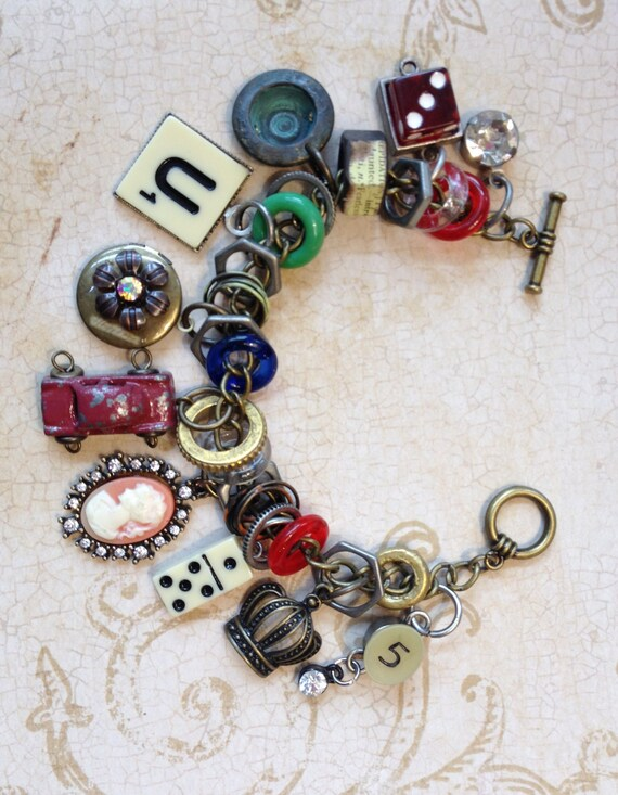 industrial chic charms mixed media altered art steampunk charm