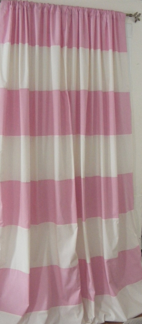 baby bedding drapery nursery curtain panels pink and cream fully lined