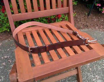 "For Alex,Shoulder Strap Removable and Adjustable 37"" - 43"" Leather Made in the USA"