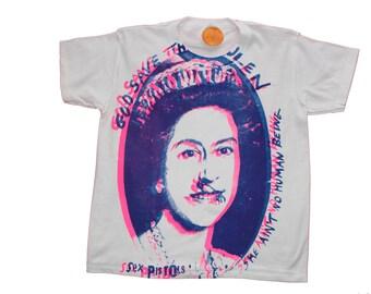"Sex Pistols Tshirt - God Save The Queen-Classic Punk Screenprint - Extra Small 32""-34"" Chest"