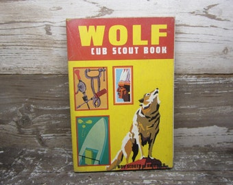 REDUCED Vintage Scouts BSA Boy Scouts of America Wolf Cub Scout Book 1967 Surviving Suvivalist Vintage Book