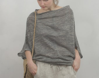 KNITTED LINEN SWEATER