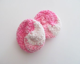 Set of 2 Pink Dish or Face Cotton Scrubbies