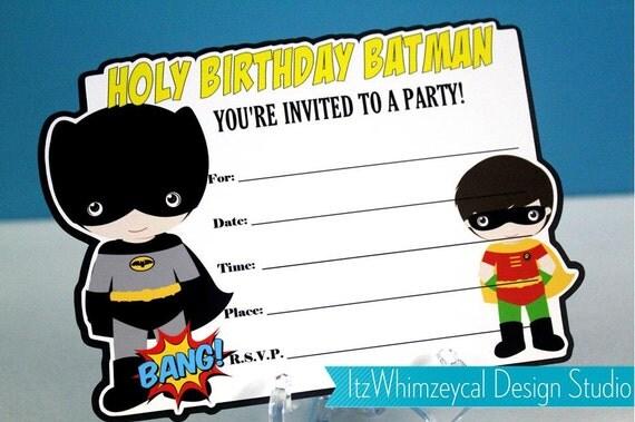 Superhero Birthday Party Invites for amazing invitation example