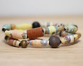 Berenstain Bears Recycled Paper Bead Bracelet, Made From Book pages, Librarian Gift, Teacher Gift, Book Lover, Earthy Bracelet Set