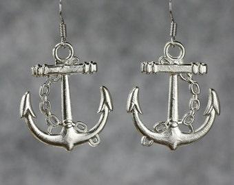 5.99-9.99 dollars Nautical anchor drop earrings Bridesmaids gifts Free US Shipping handmade Anni Designs