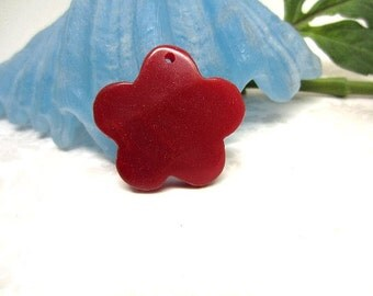 Pendant Focal Opaque Red Flower 40mm Bargain Beads Wholesale Jewelry Supplies