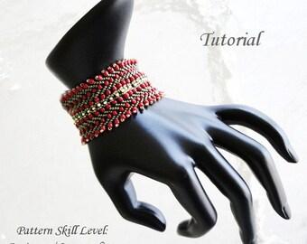 MANON beaded bracelet beading tutorial beadweaving pattern seed bead beadwork jewelry beadweaving tutorials beading pattern instructions