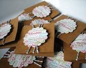 Christmas Mini-Cards-Kraft Set of 10 with Envelopes