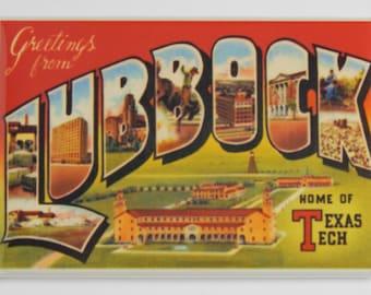 Greetings from Lubbock Texas Fridge Magnet