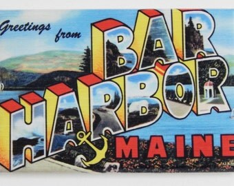 Greetings from Bar Harbor Maine Fridge Magnet (2 x 3 inches)