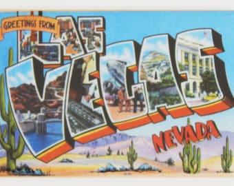 Greetings from Las Vegas Nevada Fridge Magnet