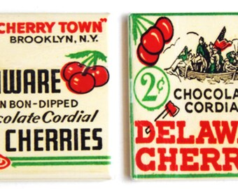 Delaware Chocolate Cherries Fridge Magnet Set