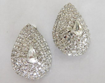 SALE****Brilliant Synthetic Diamond Clip Earrings-WAS  65.00 NOW