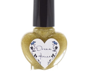 Dream House Gold Holographic Nail Polish 5ml Mini Bottle