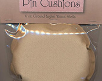Pincushion Insert Round- Crushed Walnuts