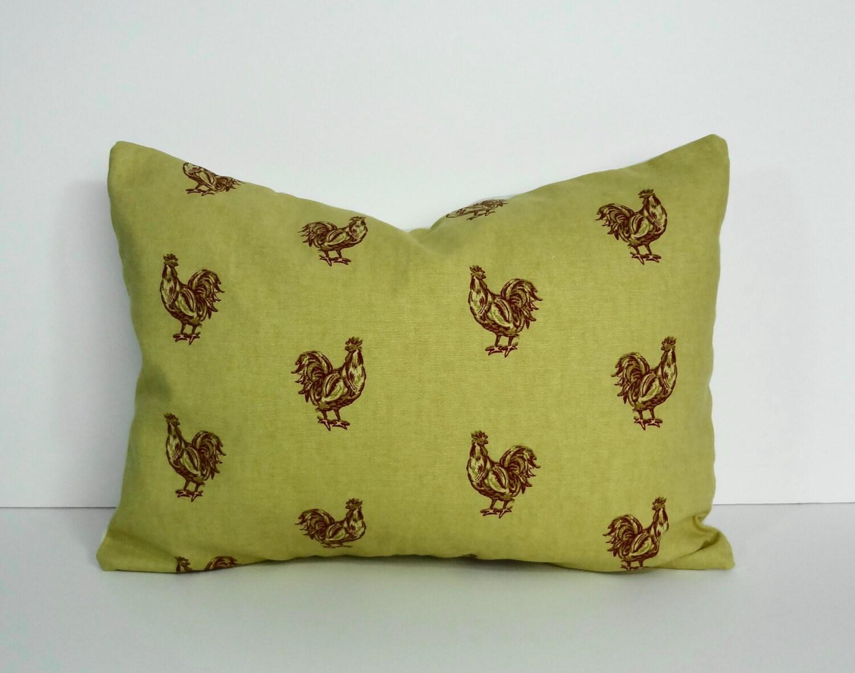 Rooster Decorative Pillow Cover HenThrow Pillow Cover Lumbar