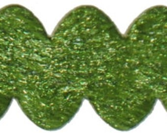 Olive Velvet Rick Rack - 3/8 inch wide - 3 Yards - Closeout Sale!