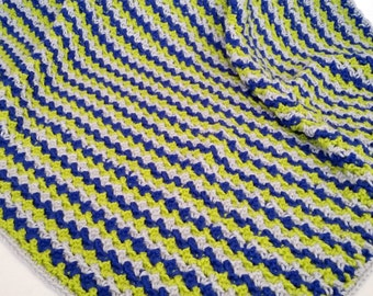crochet blanket toddler size ready to ship boy handmade handcrochet made in usa quick shipping