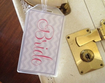 Bride and Groom Luggage Tags