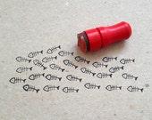Mini Fish Bones Rubber Stamp