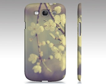 Blossom Phone Case, Spring, iPhone 4, Nature, Pale Blue, Pastel, Samsung Galaxy S3, iPhone 5, Floral, White Flowers, Cherry Blossom