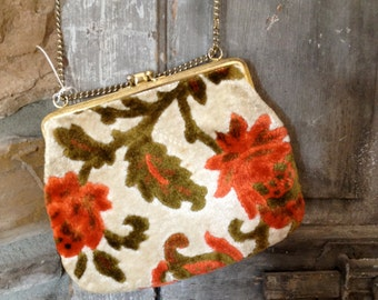 Vintage Tapastry Purse in beautiful floral hues