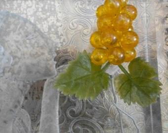 Italian Orange Iridescent Plastic Berries