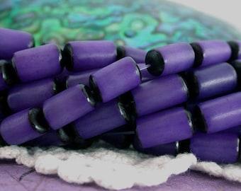 Buri Nut Beads, Buri Seed Beads, Purple Buri Nuts, Natural Buri Nut Beads, Recycled Beads, Buri Palm Nut Beads  NAT-224