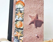 Shells and Starfish Journal, Handmade Notebook, Altered Composition Book, Vacation Planner, Travel Journal