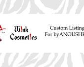 Custom Listing for byANOUSHKA