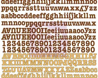 "SALE Alphabet Letters - Stickers - Prima ""Lady Bird"" Small Canvas Alphabet - Orange & Brown Canvas Alphabet Stickers - 384 pcs"