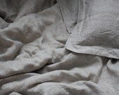 Linen Duvet Cover Natural: King, Queen, Full, Twin Stonewashed Eco friendly - Custom size