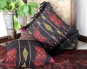 """Large 20"""" Naga Tribal Pillow Ethnic Cushion Covers With Fringe"""
